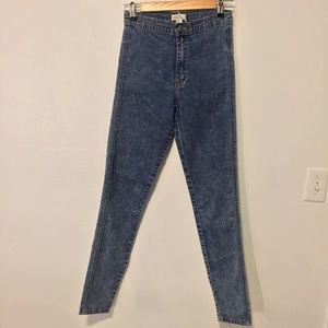 High Waist Acid Wash Jeans